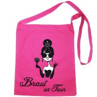 Umhänge-Tasche mit Braut on Tour-Motiv