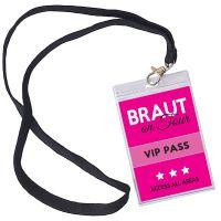 """VIP-Ausweis """"Braut"""""""