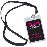 Junggesellenabschied-VIP-Ausweis Team Braut