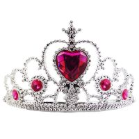 Junggesellenabschied-Krone mit pinken Steinen
