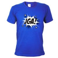 "T-Shirt ""JGA"" - Comic - Blau"