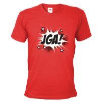 Rotes Herren JGA-Shirt mit Comic-Aufdruck