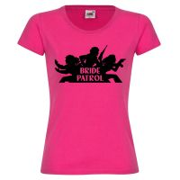 "T-Shirt ""Bride Patrol"" in Pink"