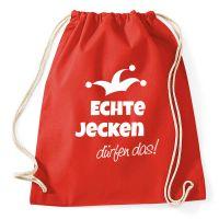 Fasching-Rucksack mit Echte Jecken-Motiv