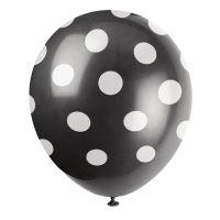 Schwarze Luftballons mit Punkten