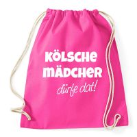 Rucksack mit Kölsche Mädcher dürfe dat-Motiv - Pink
