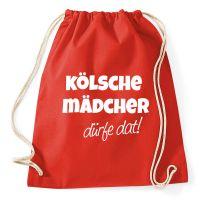 Rucksack mit Kölsche Mädcher dürfe dat-Motiv - Rot