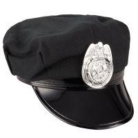 Schwarze Polizeimütze für Damen