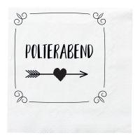 Polterabend-Deko - Schwarze Bierdeckel mit Auf Ewig-Motiv