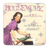 "Retro-Untersetzer ""Housework"""