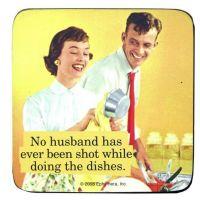 """Retro-Untersetzer """"Husband"""""""