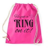 "Rucksack ""Put a Ring on it"" - Pink"