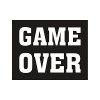 "Schuhsticker ""Game Over"""
