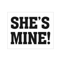 Schuhsticker für Hochzeitsschuhe mit Aufschrift She`s mine