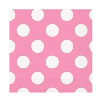 Rosafarbene Papier-Servietten mit weißen Punkten