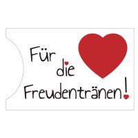 """Taschentuch-Halter """"Freudentränen"""" - Herz"""