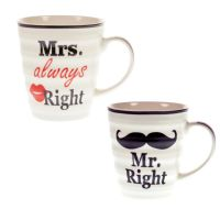 "Tassen-Set ""Mr & Mrs Right"""