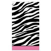 Kunststoff-Tischdecke mit Zebra-Muster für die Bridal Shower