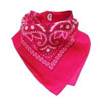 Pinkfarbenes Halstuch im Western-Cowboy-Stil