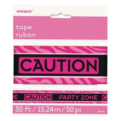 Pinkfarbenes Party-Absperrband mit Aufdruck