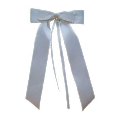 Weiße Hochzeitsschleife für die Autotüre