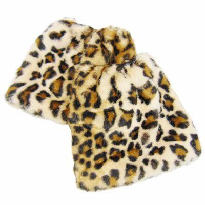 Fellstulpen im Leoparden-Design aus Kunst-Fell