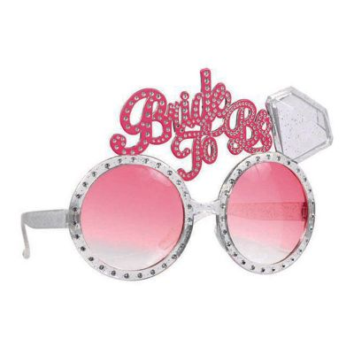 Fun-Brille mit Auschrift Bride to be