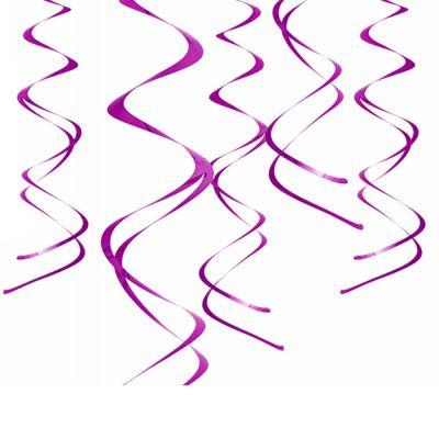 Lilafarbene Deckenspiralen