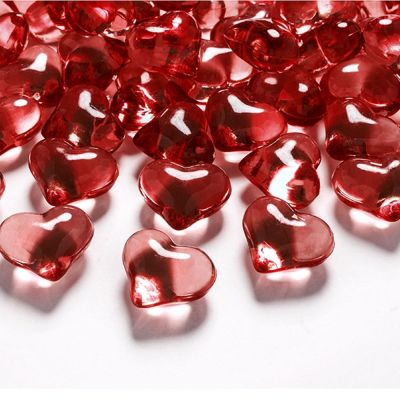 Rote Deko-Herzen aus Acryl