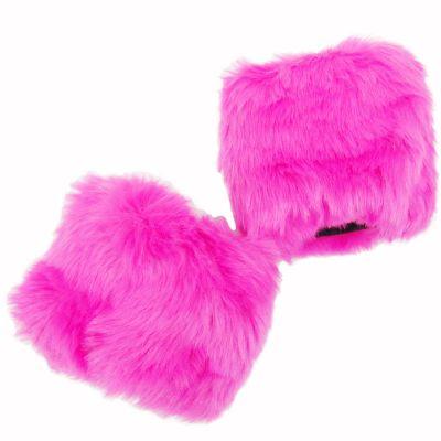 Pinke Pulswärmer - Armstulpen aus Kunst-Fell
