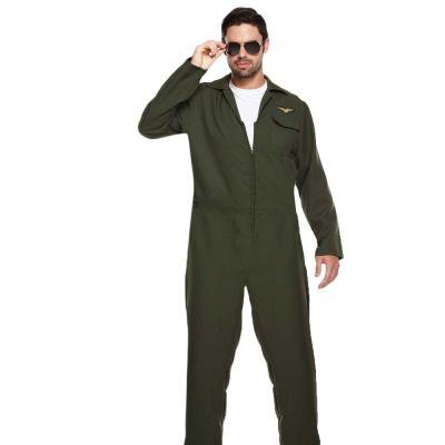 Flieger Kostüm-Overall für Herren