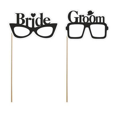Foto-Requisiten in Brillen Form für Braut und Bräutigam