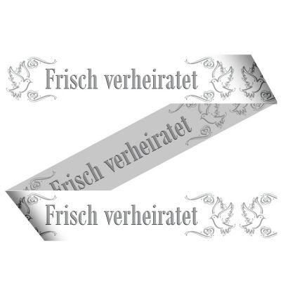 Party-Absperrband Frisch verheiratet für die Hochzeit