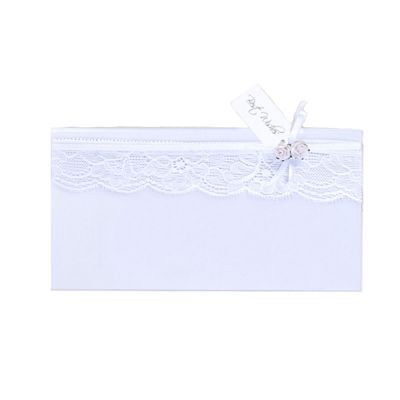 Umschlag für Geldgeschenke in Weiß mit Spitzendekor