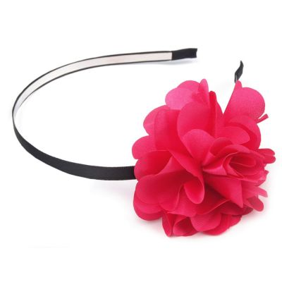 Junggesellenabschied-Haarreifen mit pinkfarbener Blume