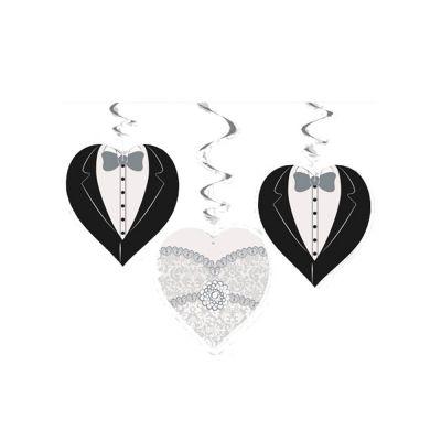 Hochzeits-Hängedekoration mit Motiv Braut und Bräutigam