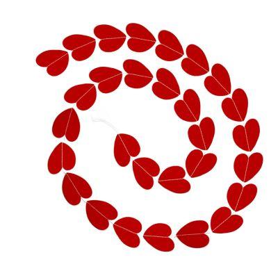 Papiergirlande mit roten Herzen