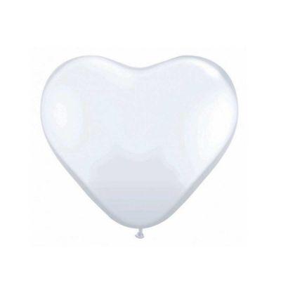 Weiße Herzballons für die Hochzeit