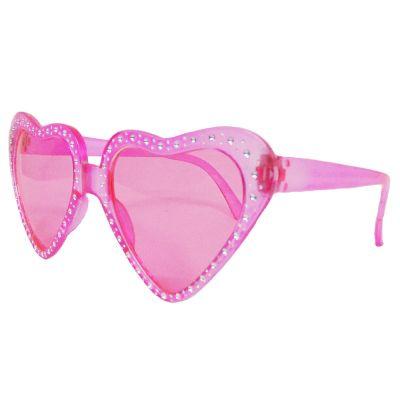 Rosafarbene Fun-Brille in Herz-Form aus Kunststoff