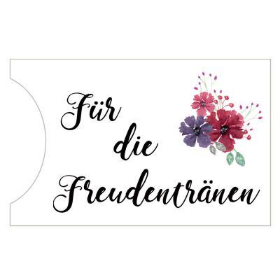 Taschentuch-Halter - Freudentränen - im Blumen-Design