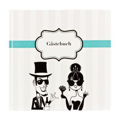 Hochzeit-Gästebuch mit Fragen an die Gäste
