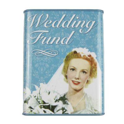 Hochzeitsspardose mit Braut-Motiv im Retro-Design