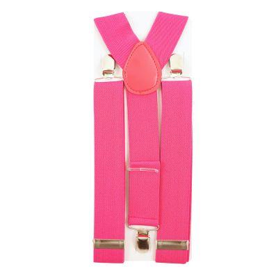 Pinkfarbene Hosenträger