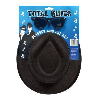 Schwarzer Hut mit Sonnenbrille