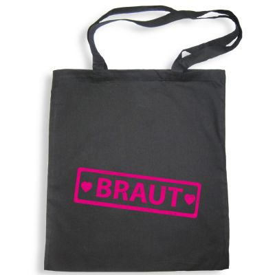 Schwarze Tote Bag mit Braut-Label