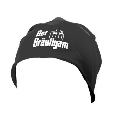 Schwarze Bräutigam-Mütze im Ganster-Stil für den JGA