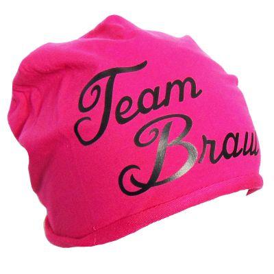 Junggesellenabschied-Mütze Team Braut in Pink