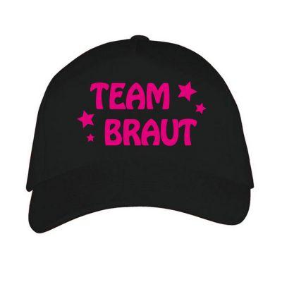 Schwarze Baseball-Mütze mit Braut-Schriftzug und Sternen