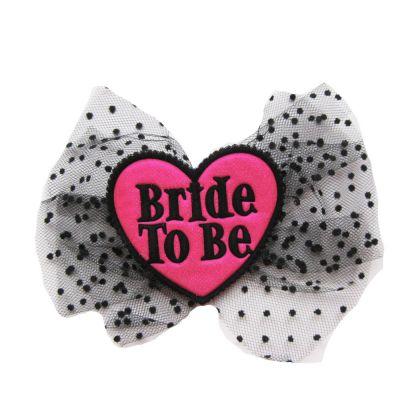 Haarklammer mit Aufschrift Bride to be