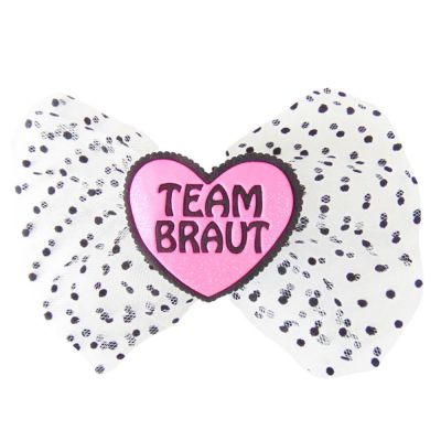 Team Braut-Haarklammer in Herz-Form als JGA-Haarschmuck